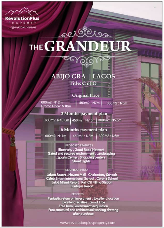 The Grandeur, Abijo G.R.A